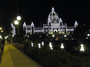 Victoria's Parliament Buildings by night